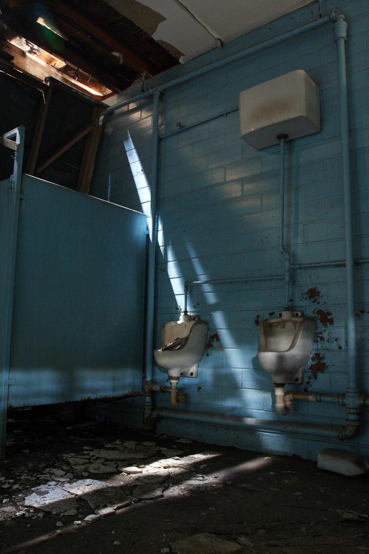 light and toilet