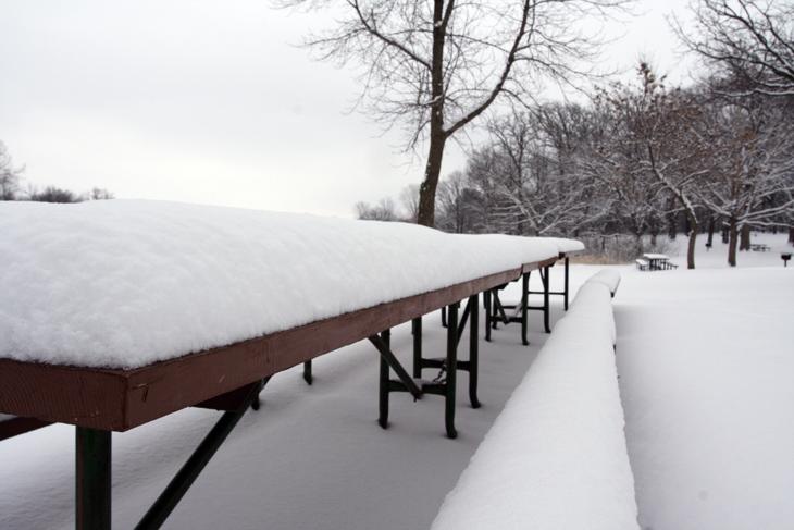 easter lake bench